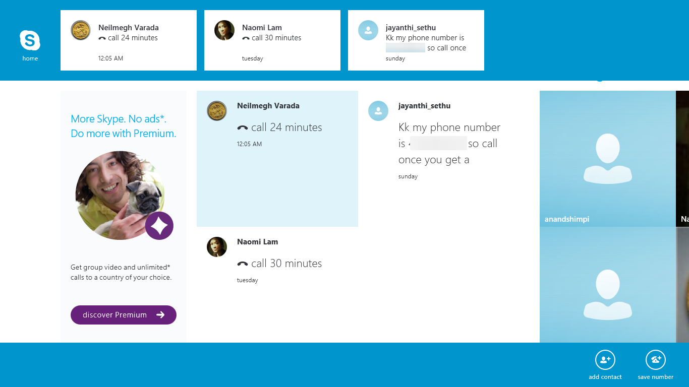 how to add group contacts in a skype call