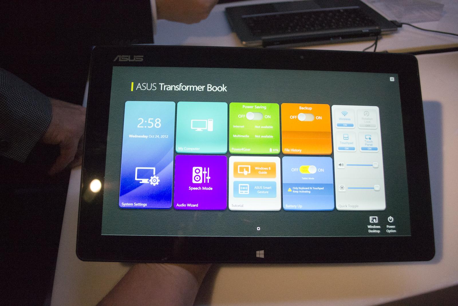 ASUS VivoTab, VivoBook, ZenBook and Transformer Book Hands-on