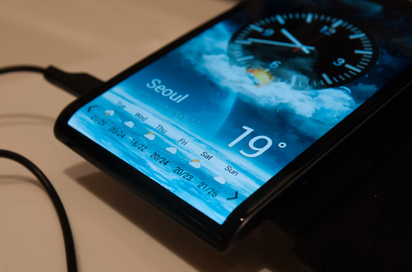 A Look at Samsung's Curved Smartphone Concept and 4.99 ...