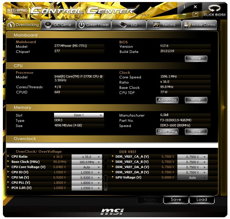 MSI Big Bang-XPower II OTP Service Treiber