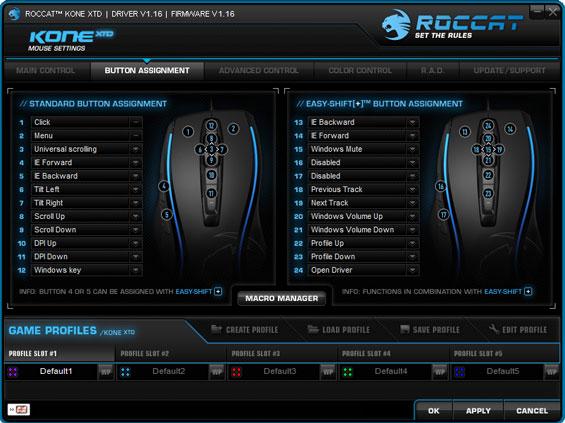ROCCAT's Kone Software - Capsule Review: ROCCAT's Kone XTD