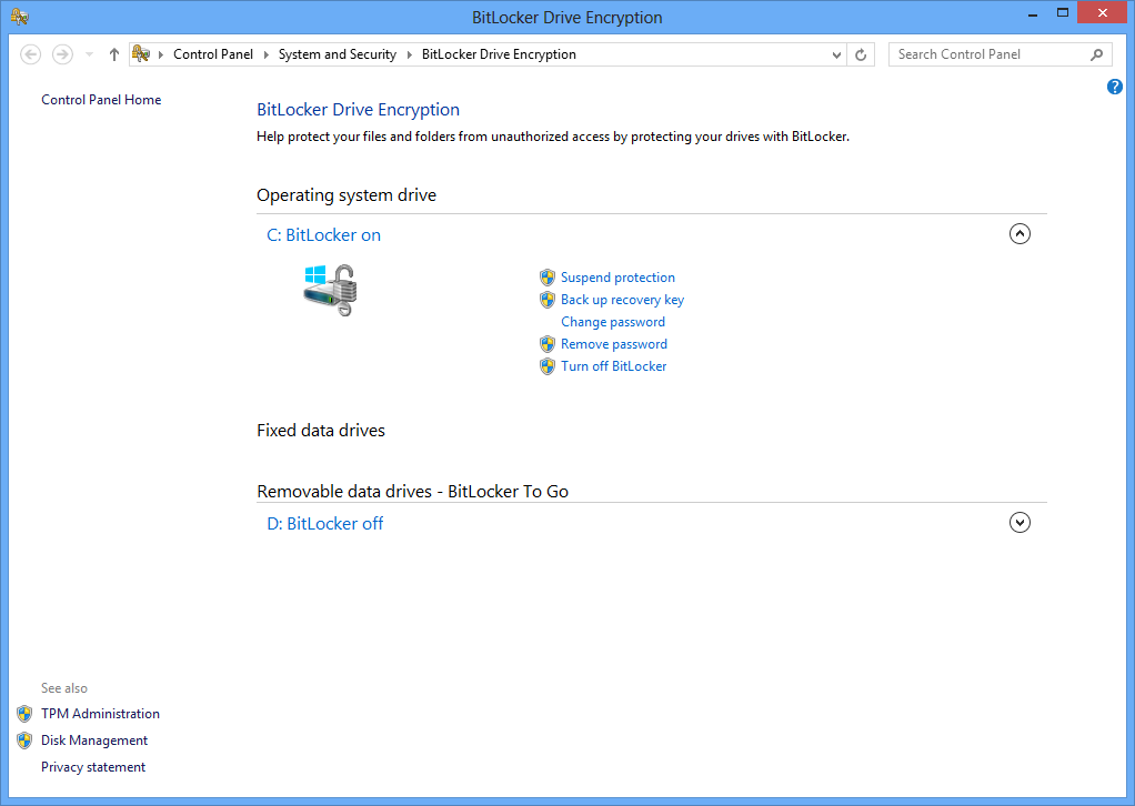 how to remove bitlocker from a drive