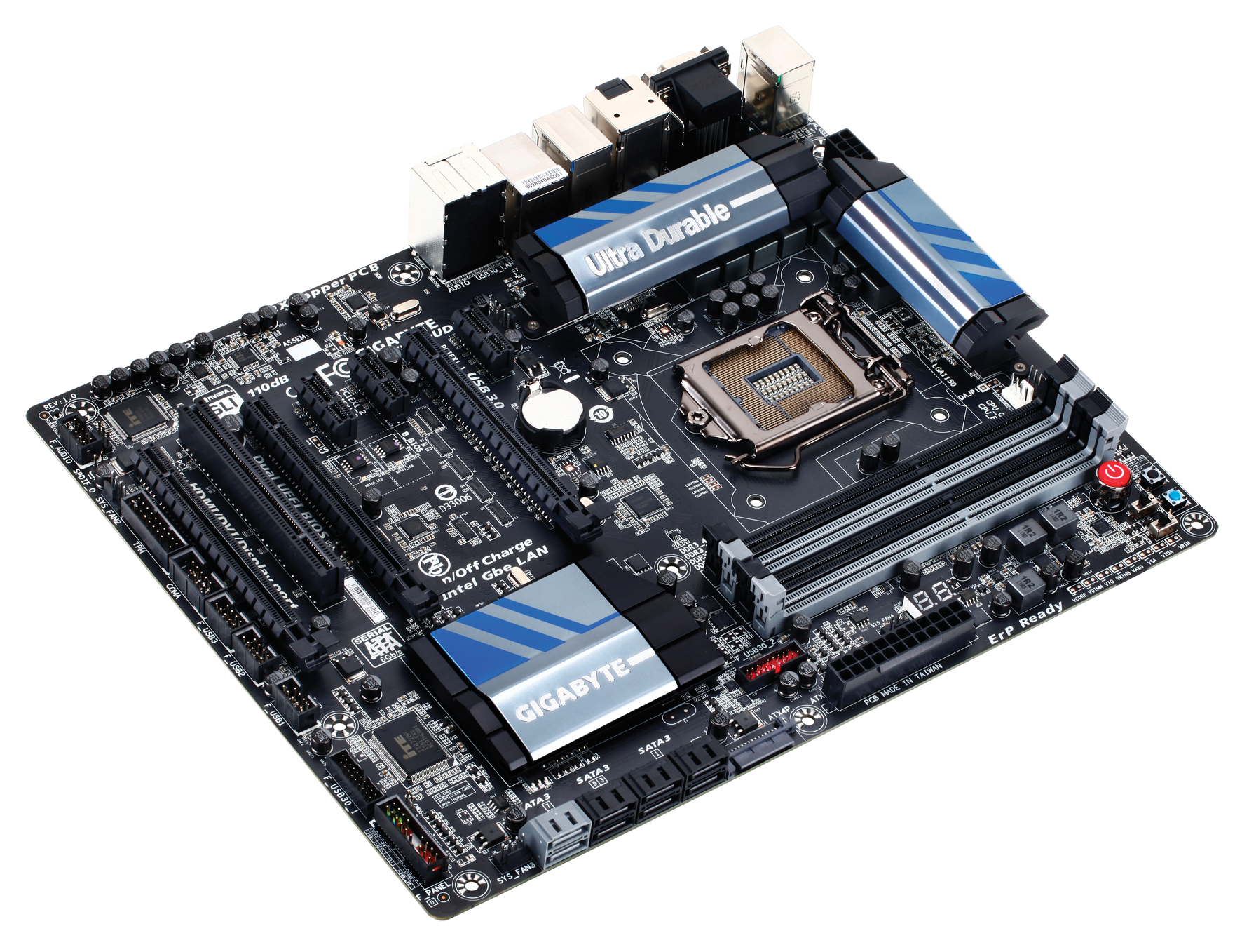 Gigabyte Z87X-UD3H Overview, Visual Inspection, Board