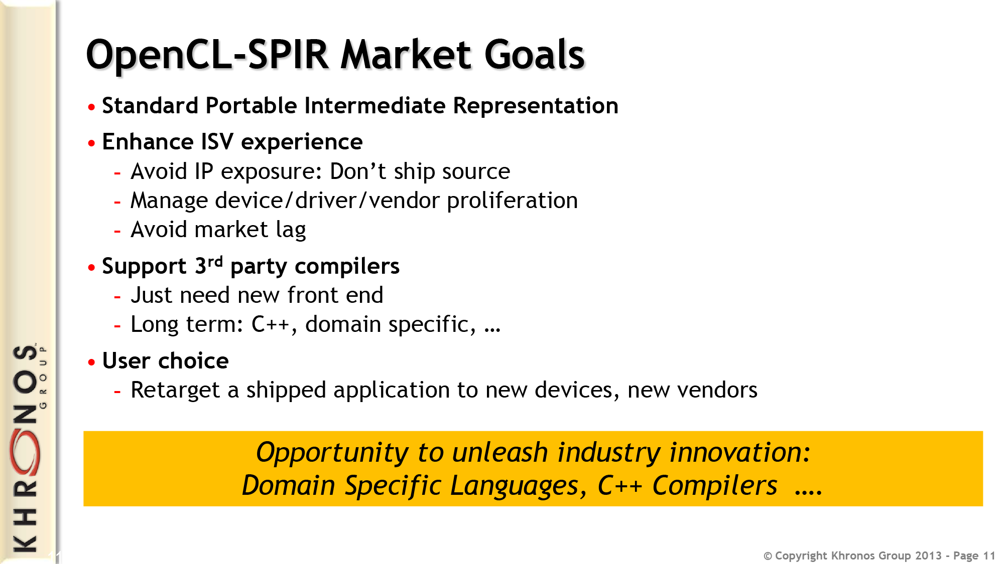 OpenCL SPIR 1 2: An Intermediate Format For OpenCL - Khronos