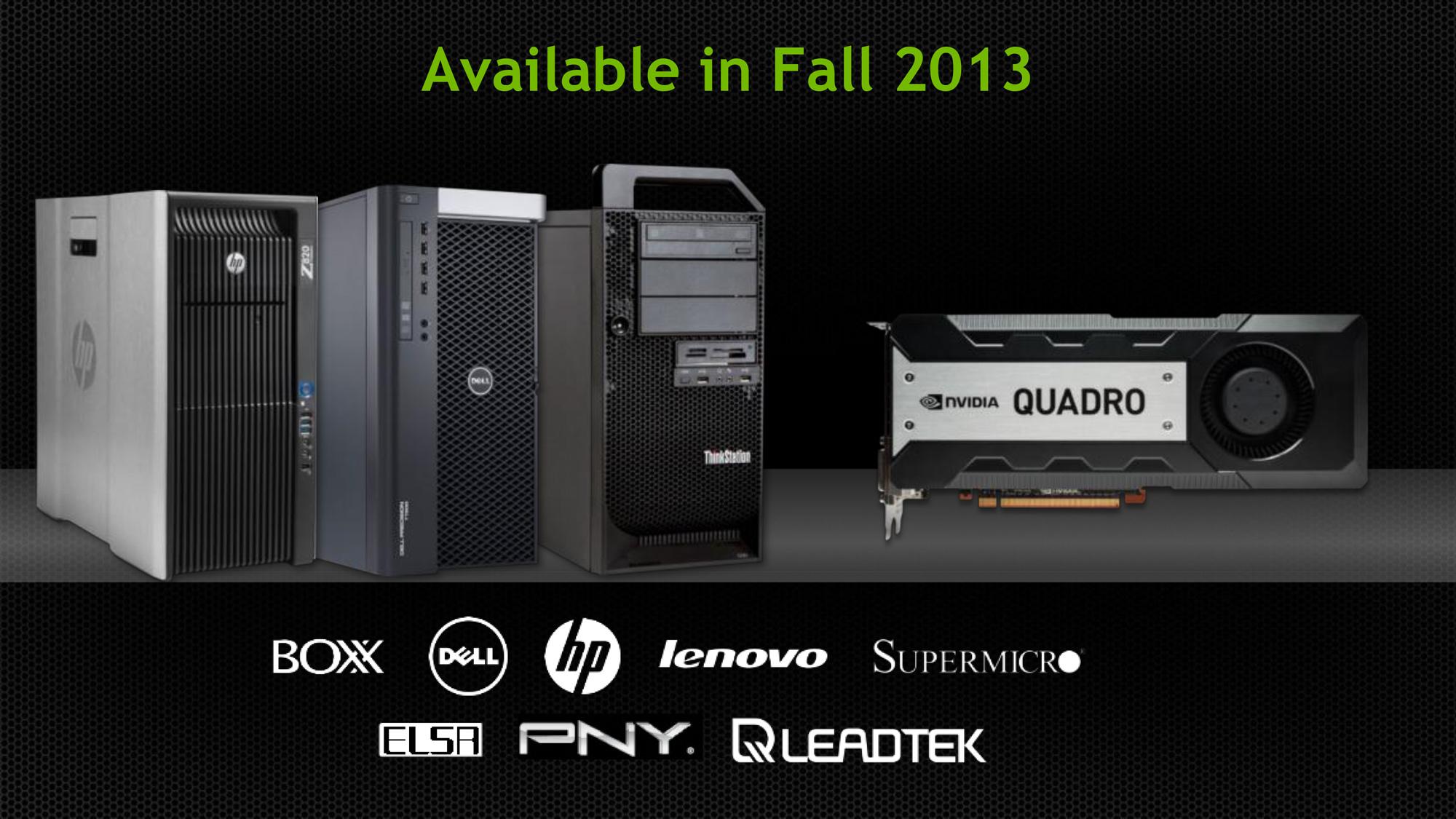 NVIDIA Announces Quadro K6000