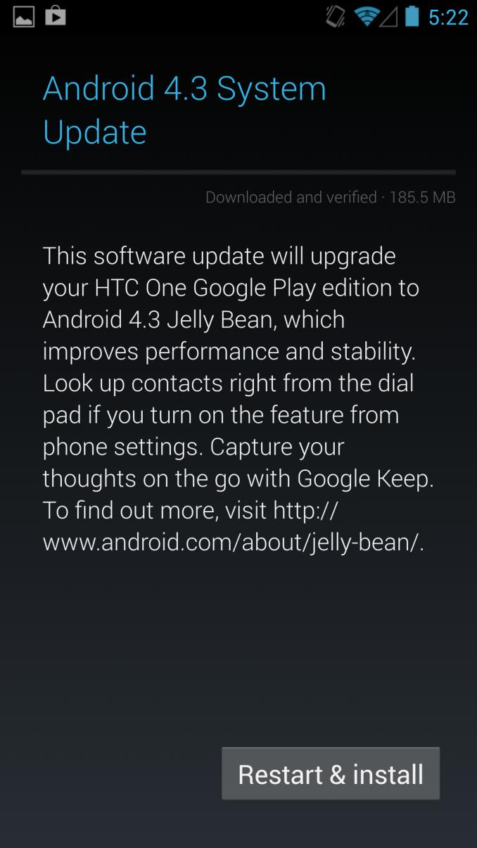 Google ปล่อย Android 4.3 ให้กับ HTC One และ Galaxy S4 รุ่น Google Play Edition แล้ว