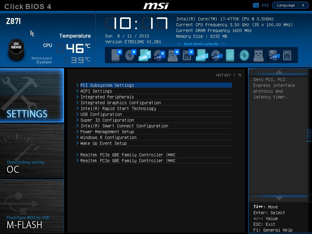 MSI Z87I BIOS - MSI Z87I Review: Mini-ITX Haswell for $140