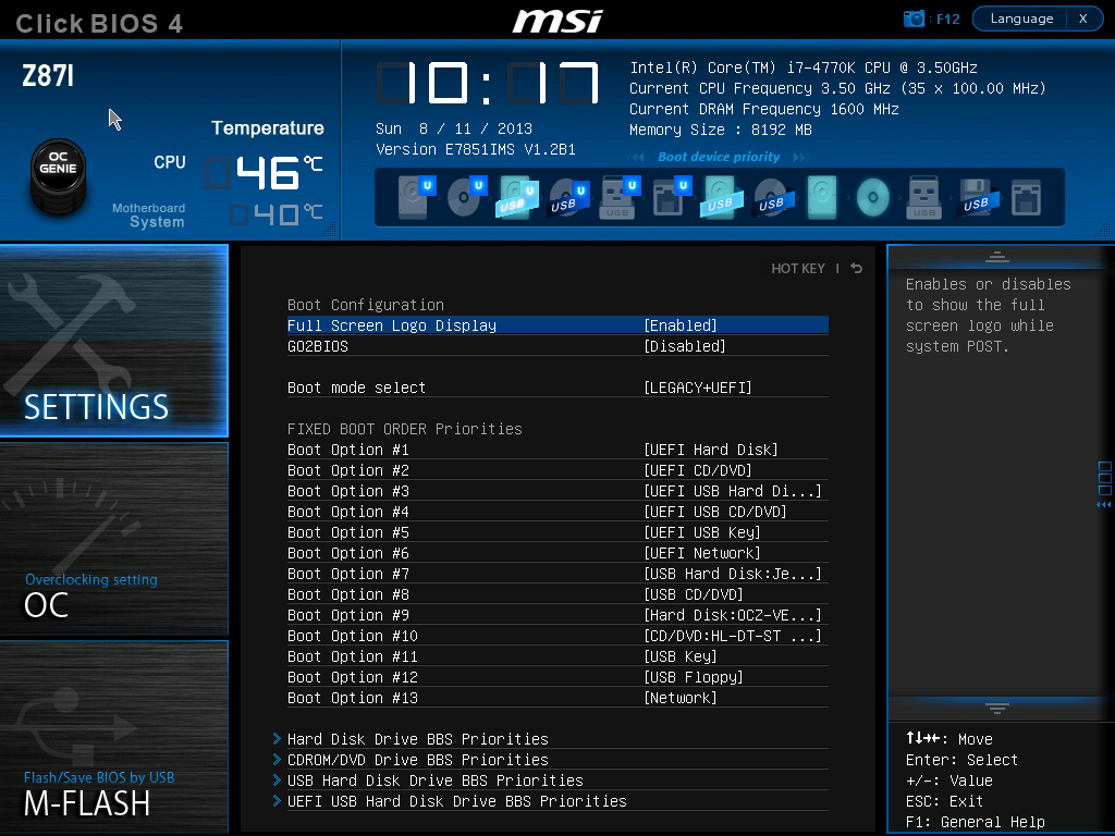 Setting BIOS to boot from M 2 SSD on MSI Z170A Gaming M7