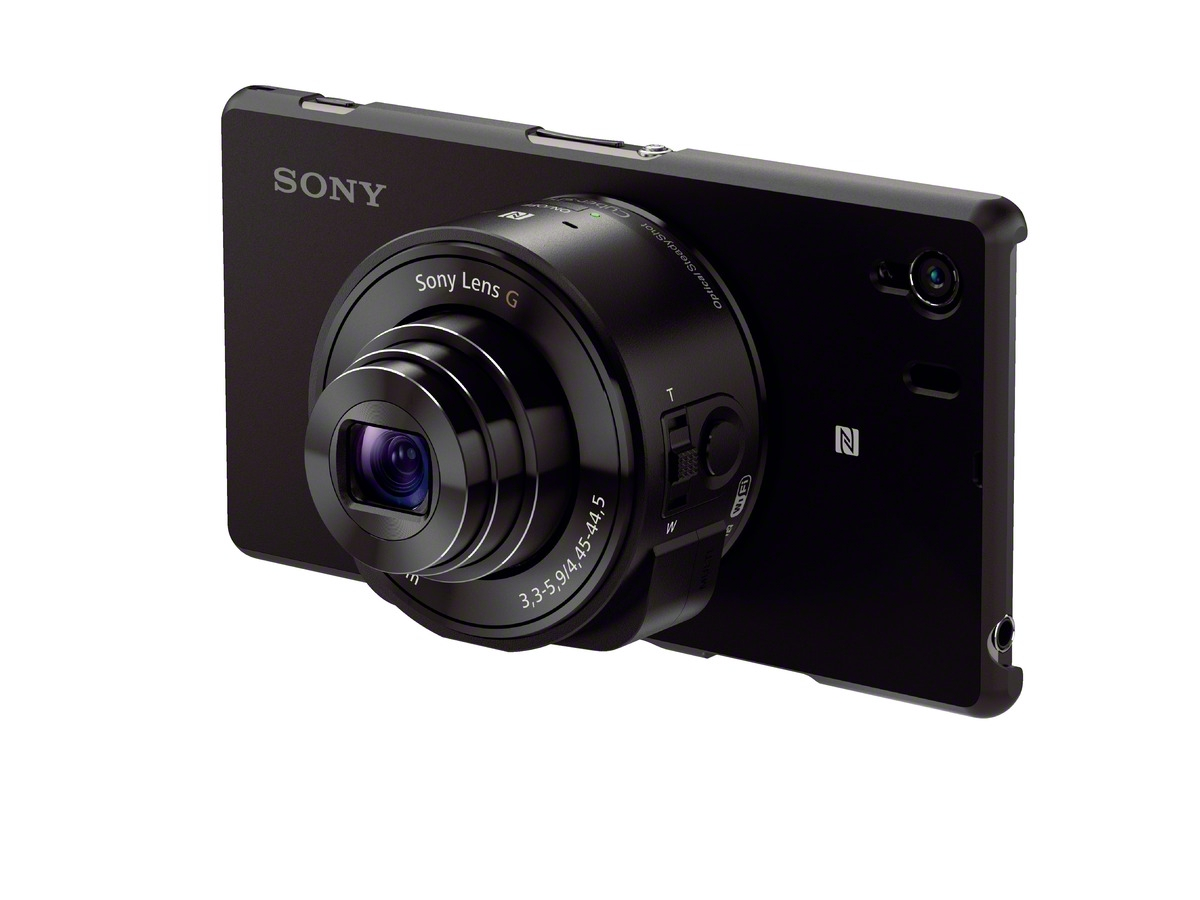 """There are two different modules in Sony's new Cyber-shot QX series, the DSC- QX100 and DSC-QX10. The QX100 includes a larger 1/1.0"""" Exmor R CMOS sensor with ..."""