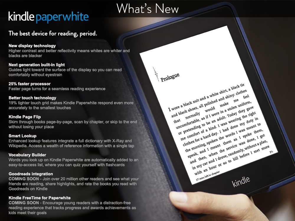 Amazon Launches New Kindle Paperwhite