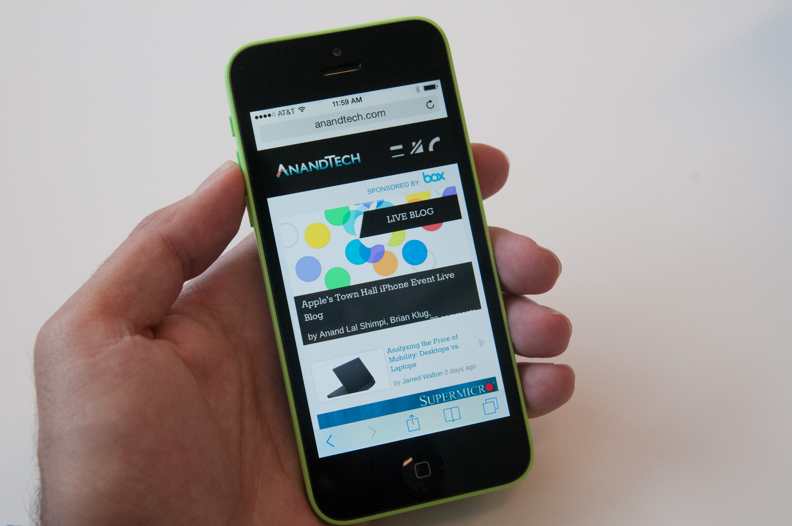 Hands on with the new iPhone 5C