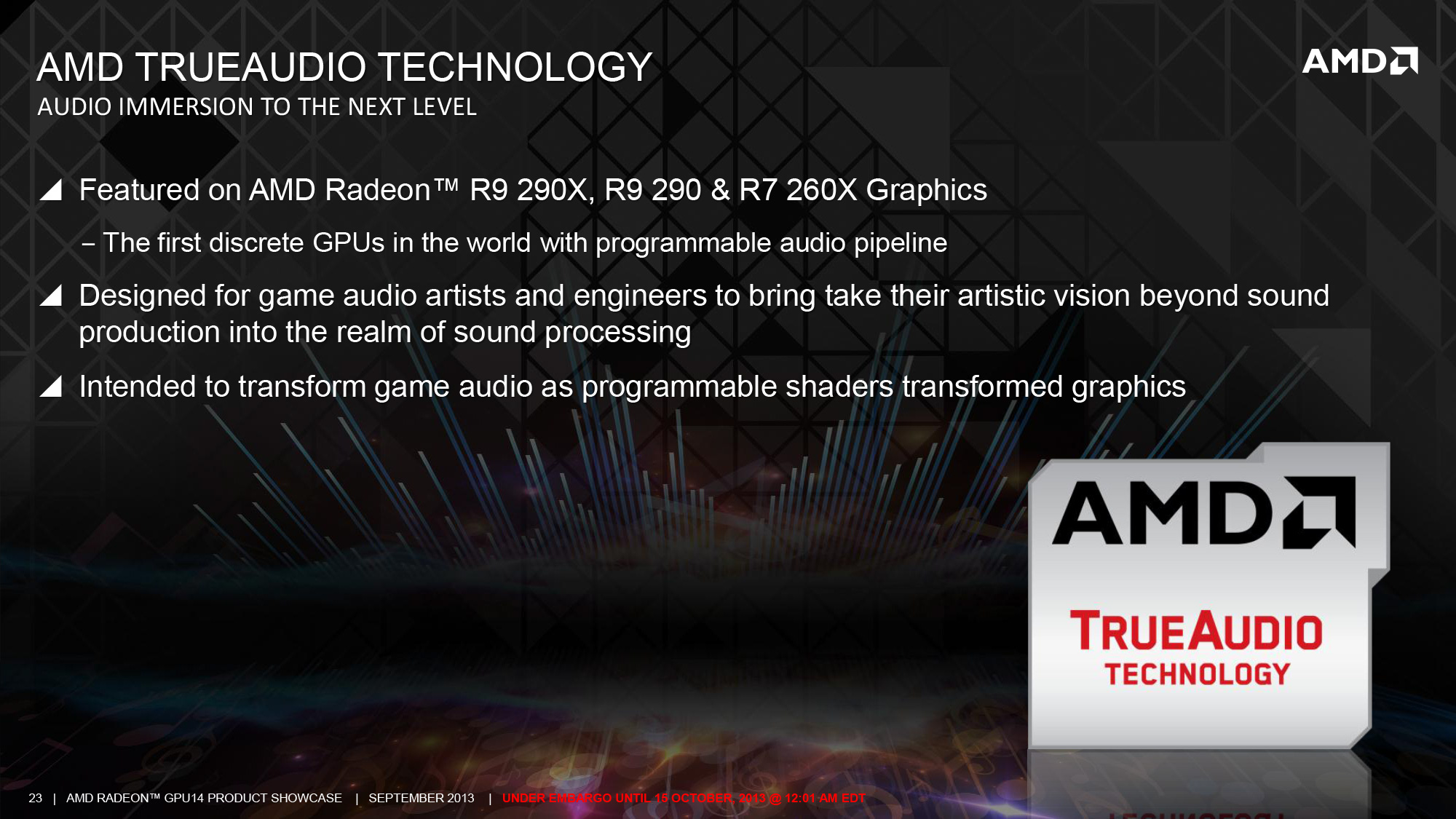 TrueAudio Technology: GPUs Get Advanced Audio Processing - The
