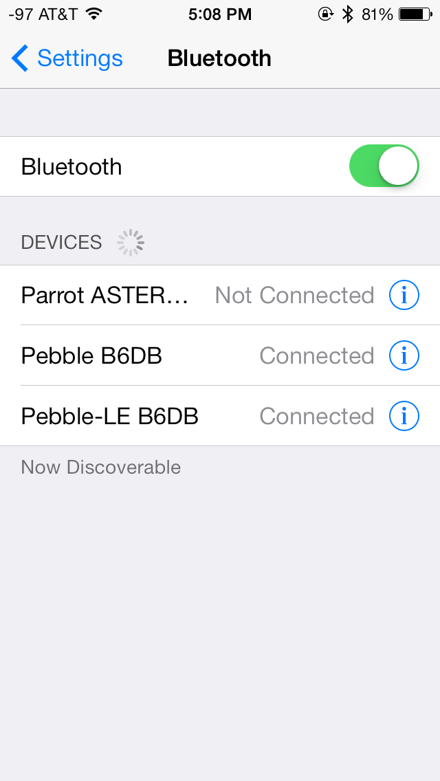 Pebble Bluetooth Show Notifications