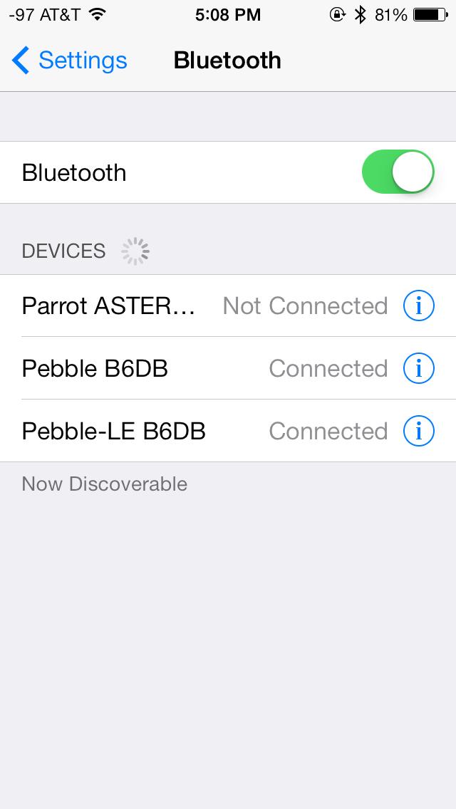 Pebble Bluetooth Show Notifications