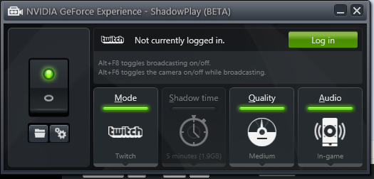 GeForce Experience Twitch tv Update Released