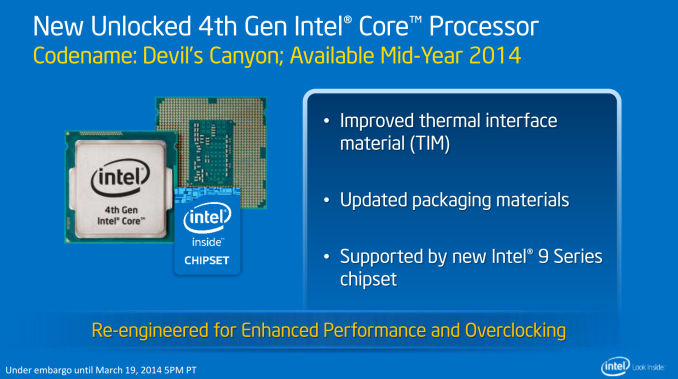 Intel 2014 Enthusiast Processors: New Haswell K with