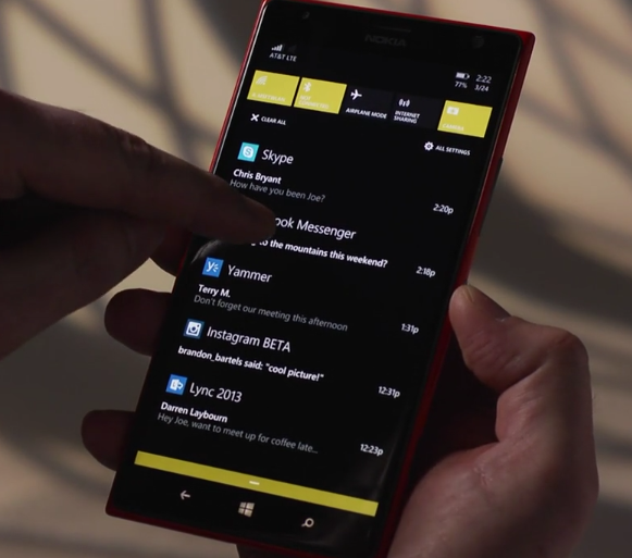 Next up was new Lock Screen features, and a set of APIs to allow developers  to integrate more deeply with the lock screen. Windows Phone 8 already  allowed ...