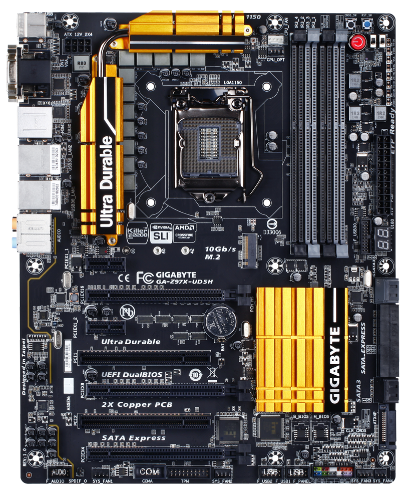 GIGABYTE Z97X-UD5H Review: Choose Your Storage Option