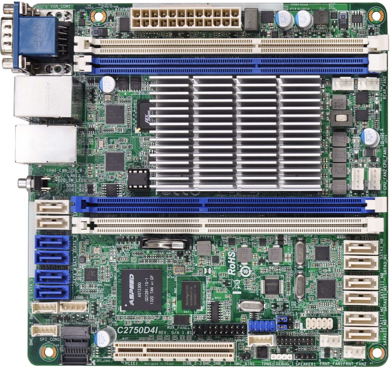 asrock rack c2750d4i review a storage motherboard management visual inspection