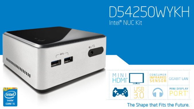 Intel D54250WYKH Haswell NUC Kit with 2 5