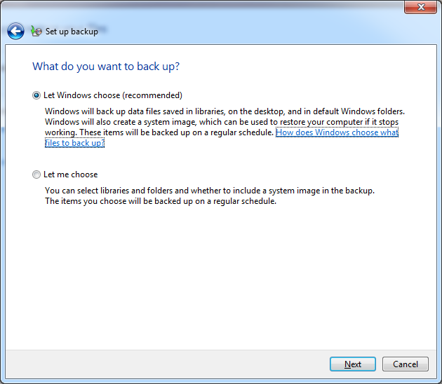 Built-in Backup Tools - Windows 7 - Averting Disaster - A