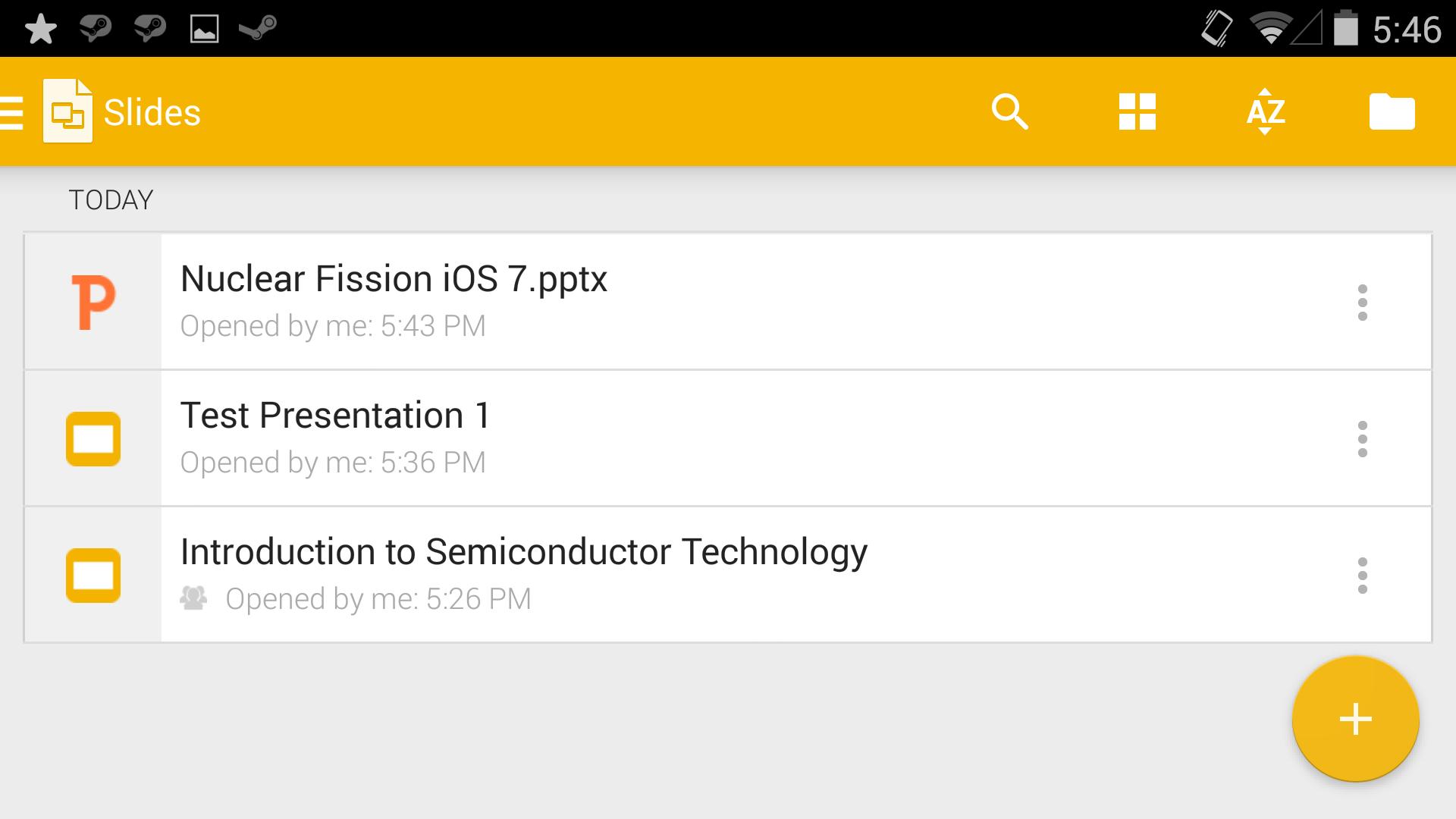 a look at google s new slides application