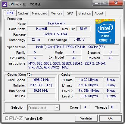 各種ベンチマーク. Cinebenchによる性能比較。Core i7-4790Kを上回りますが、性能向上はわずか。