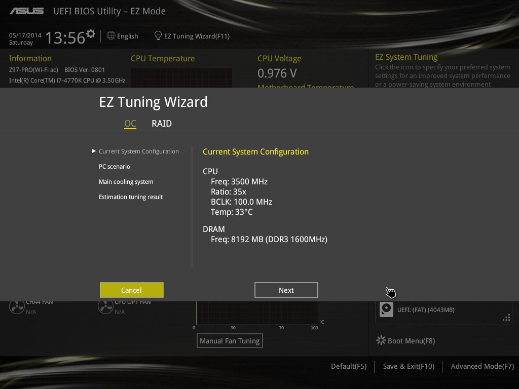 Asus Z97 Pro Wifi Ac Bios And Software Review Fan Speed Control Circuit Http Wwwtechpowerupcom Forums On Previous Motherboards I Had Lamented The Lack Of Variable Overclock Options It Was Often Just Tuner Or A Choice Between Fast Extreme
