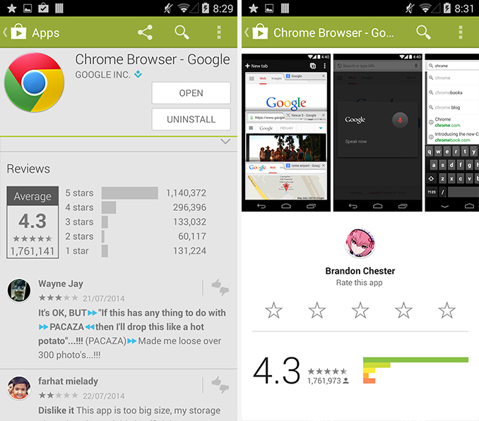 Google Play App Updated to 4 9 13 With Material Design App Pages