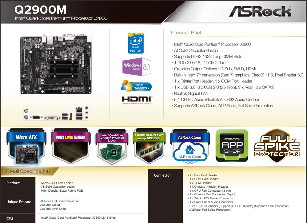 ASRock Q2900M Intel Graphics Drivers for Windows