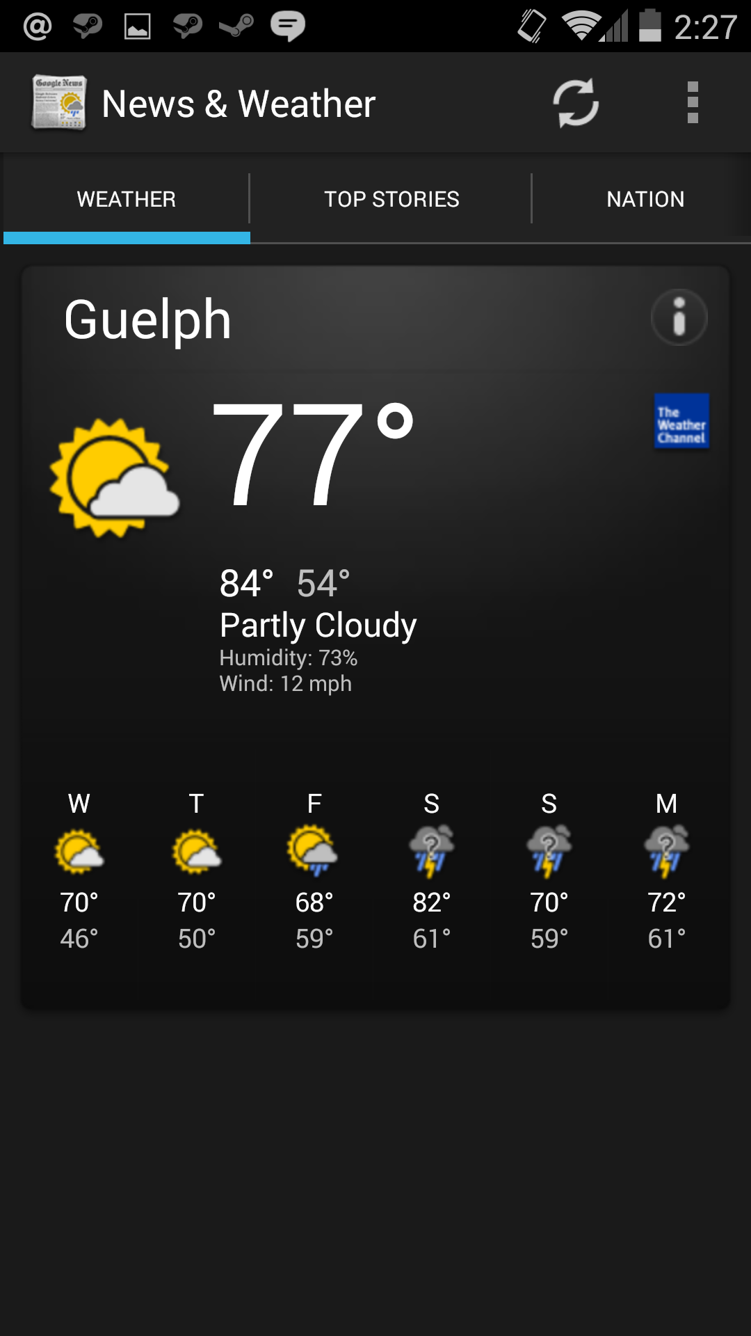 Google 39 s news weather app updated to version 2 0 for Goodl