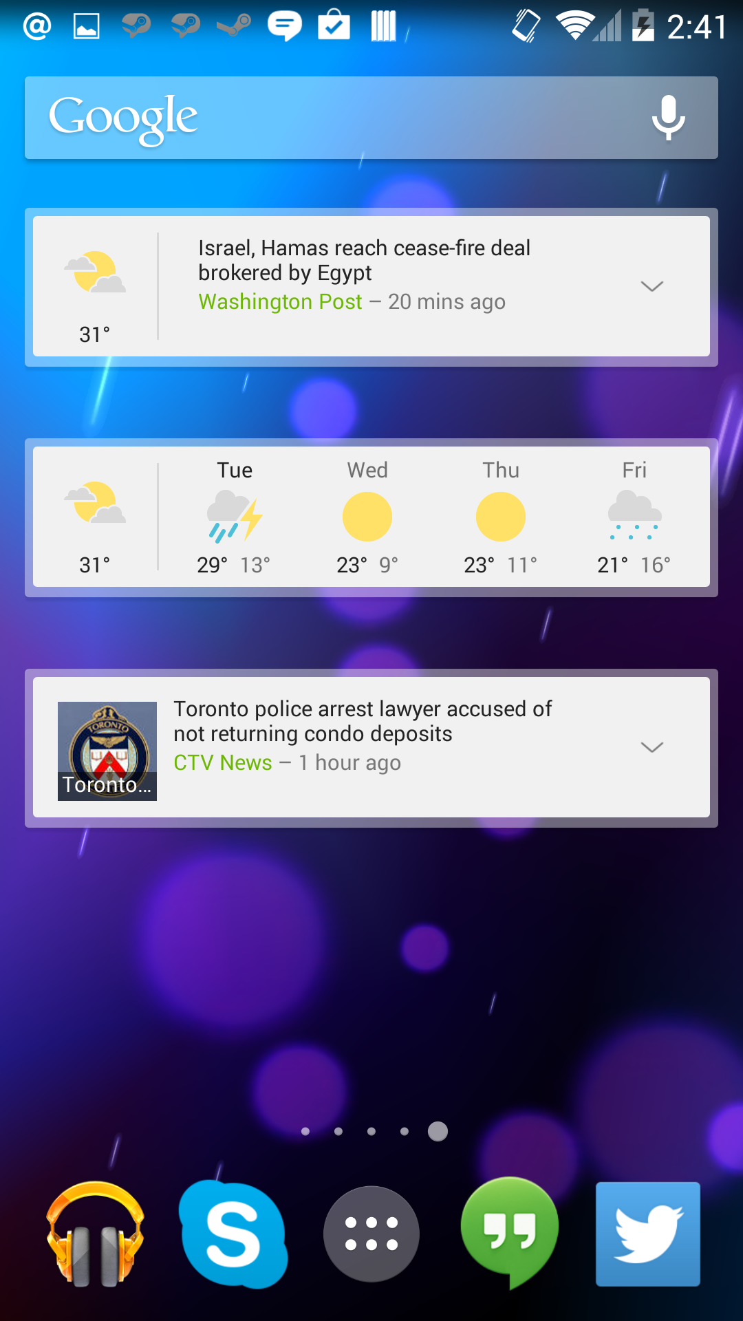 Google's News & Weather App Updated to Version 2 0