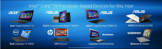 Devices 575px Intel's Core M Strategy: CPU Specifications for 9mm Fanless Tablets and 2 in 1 Devices