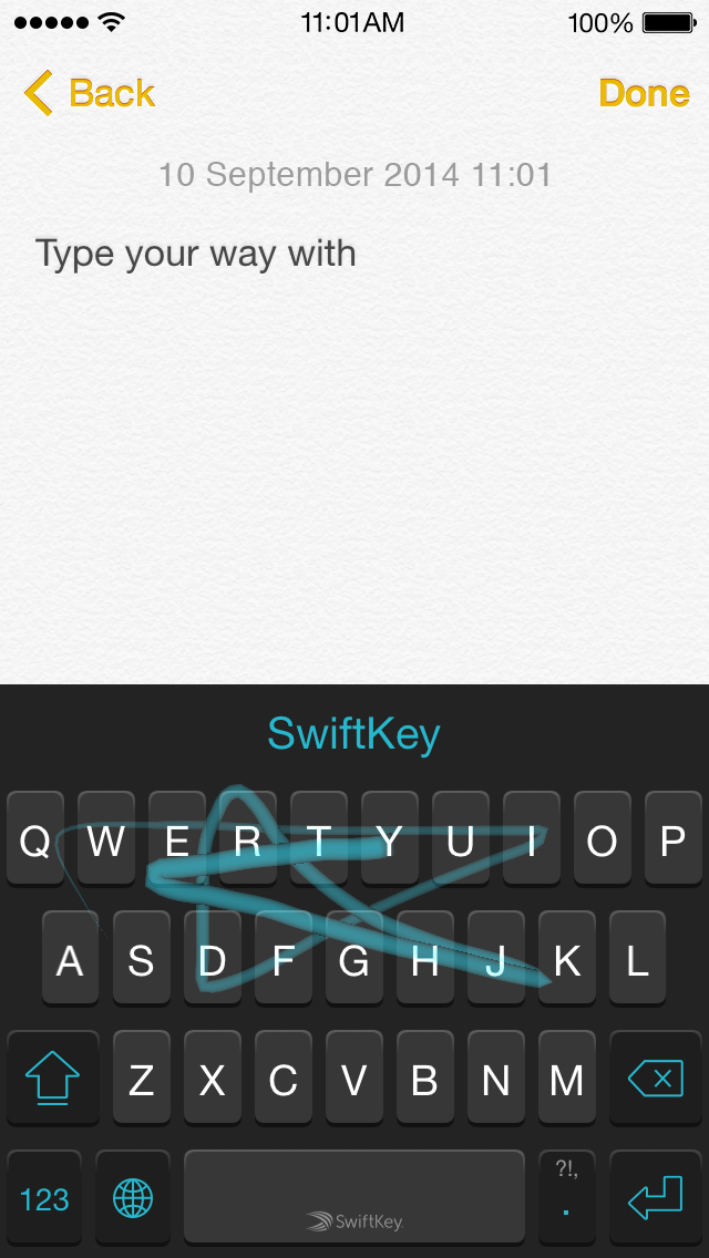 Testing Swiftkey for iOS 8