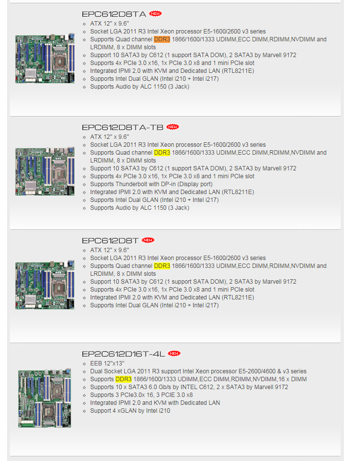 Intel's Haswell-EP Xeons with DDR3 and DDR4 on the Horizon?