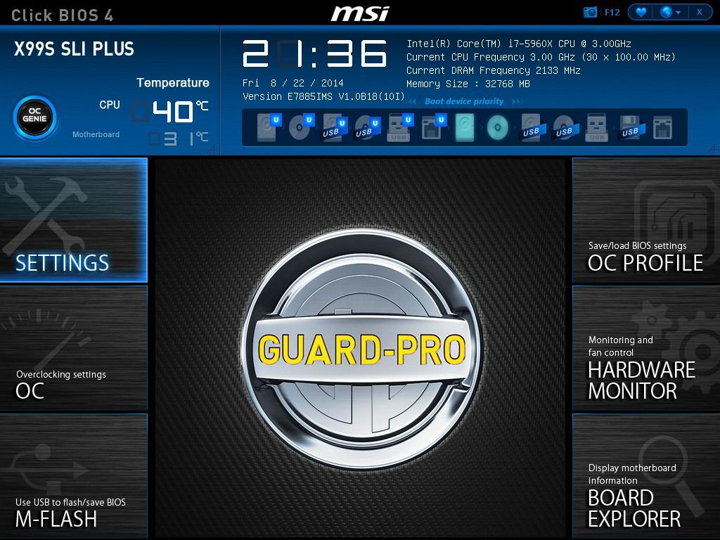 MSI X99S SLI Plus BIOS and Software - The Intel Haswell-E