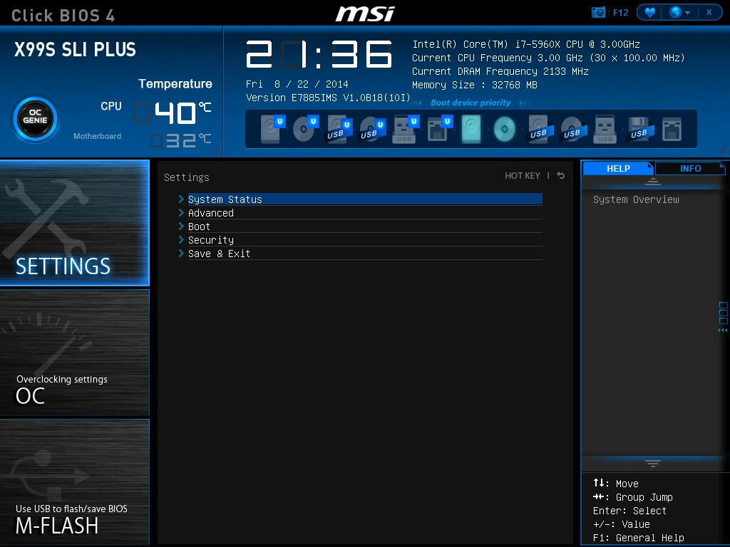 MSI X99S SLI Plus BIOS and Software - The Intel Haswell-E X99