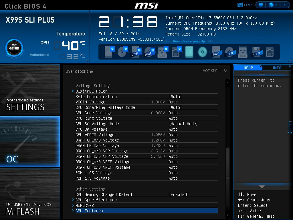 Bios msi : Overclock 8800gt