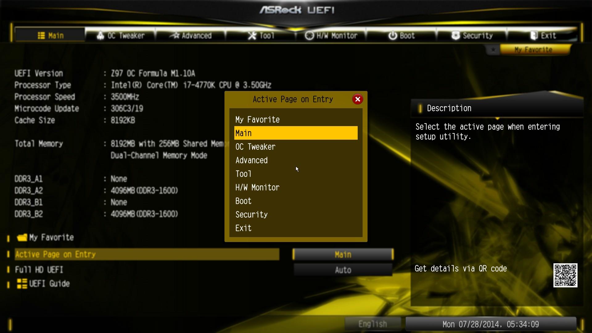 ASRock Z97 OC Formula: BIOS - ASRock Z97 OC Formula Motherboard