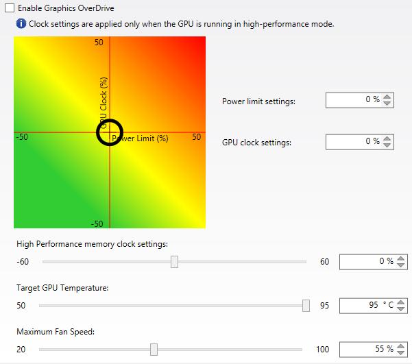 AMD Overdrive screenshot
