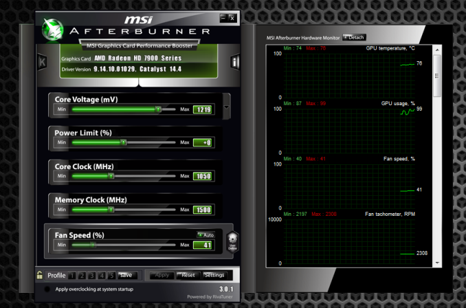 MSI Afterburner Graphics Drivers