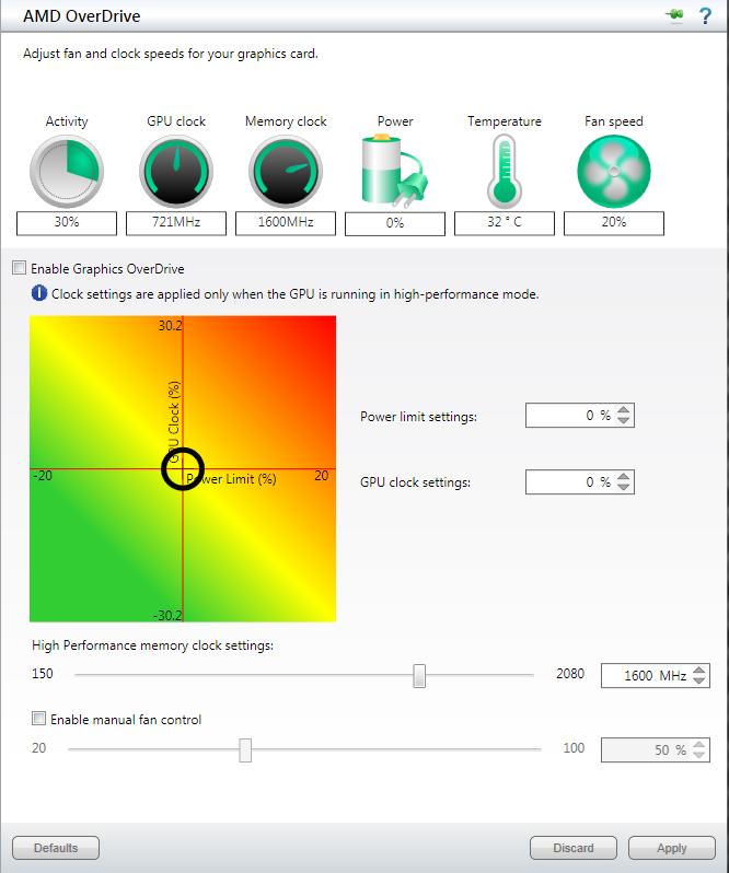Full AMD Overdrive screenshot