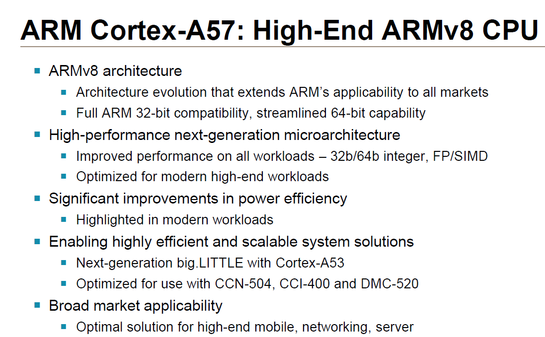 Cortex A57 - Architecture - ARM A53/A57/T760 investigated - Samsung