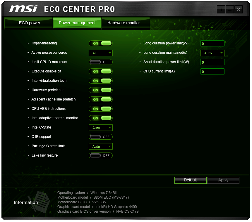 MSI B85M ECO Software - MSI B85M ECO Review: Aiming Green at $73