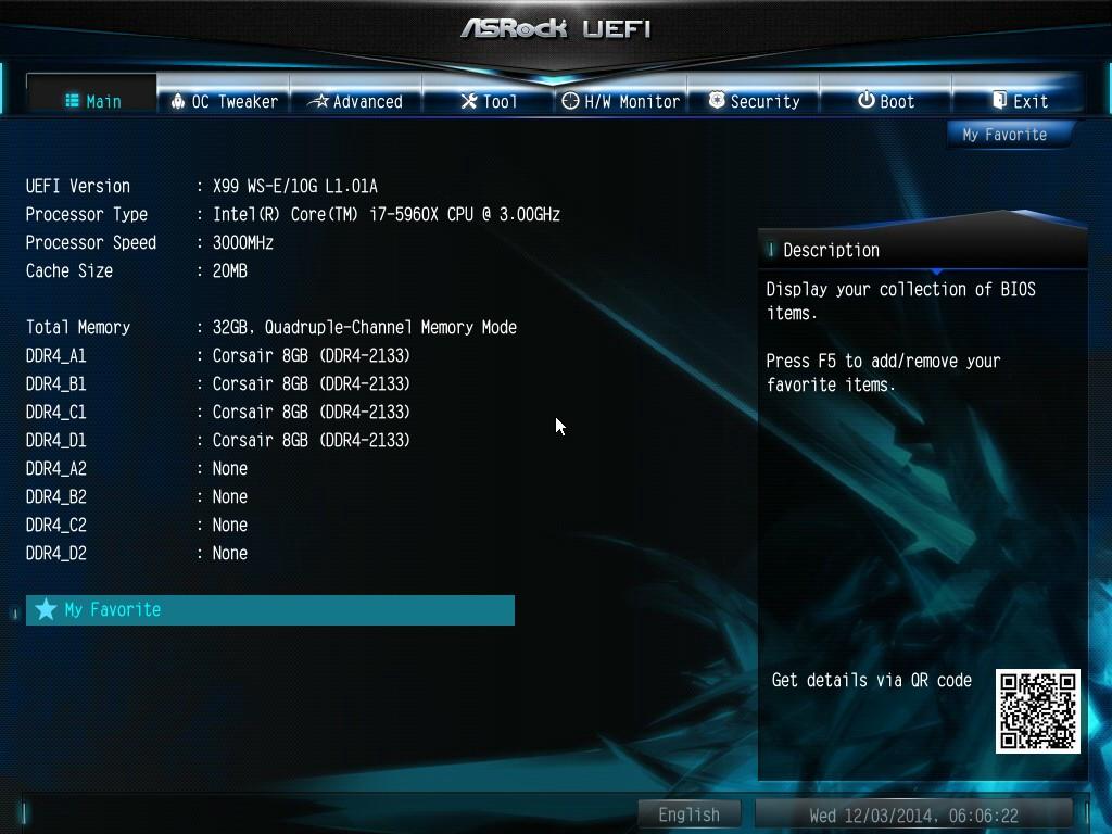 BIOS - ASRock X99 WS-E/10G Motherboard Review: Dual 10GBase
