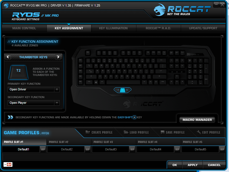 The Software - ROCCAT Ryos MK Pro Mechanical Gaming Keyboard Capsule