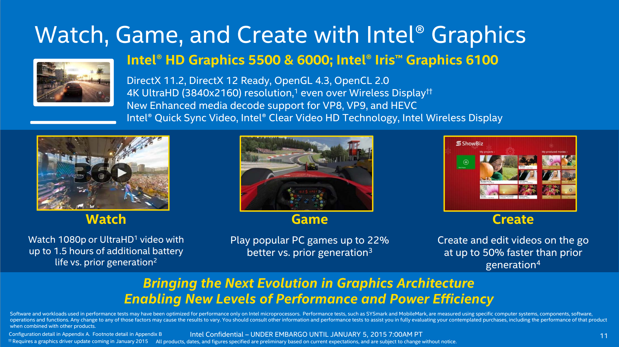 Broadwell GPU Improvements - Intel Releases Broadwell-U: New