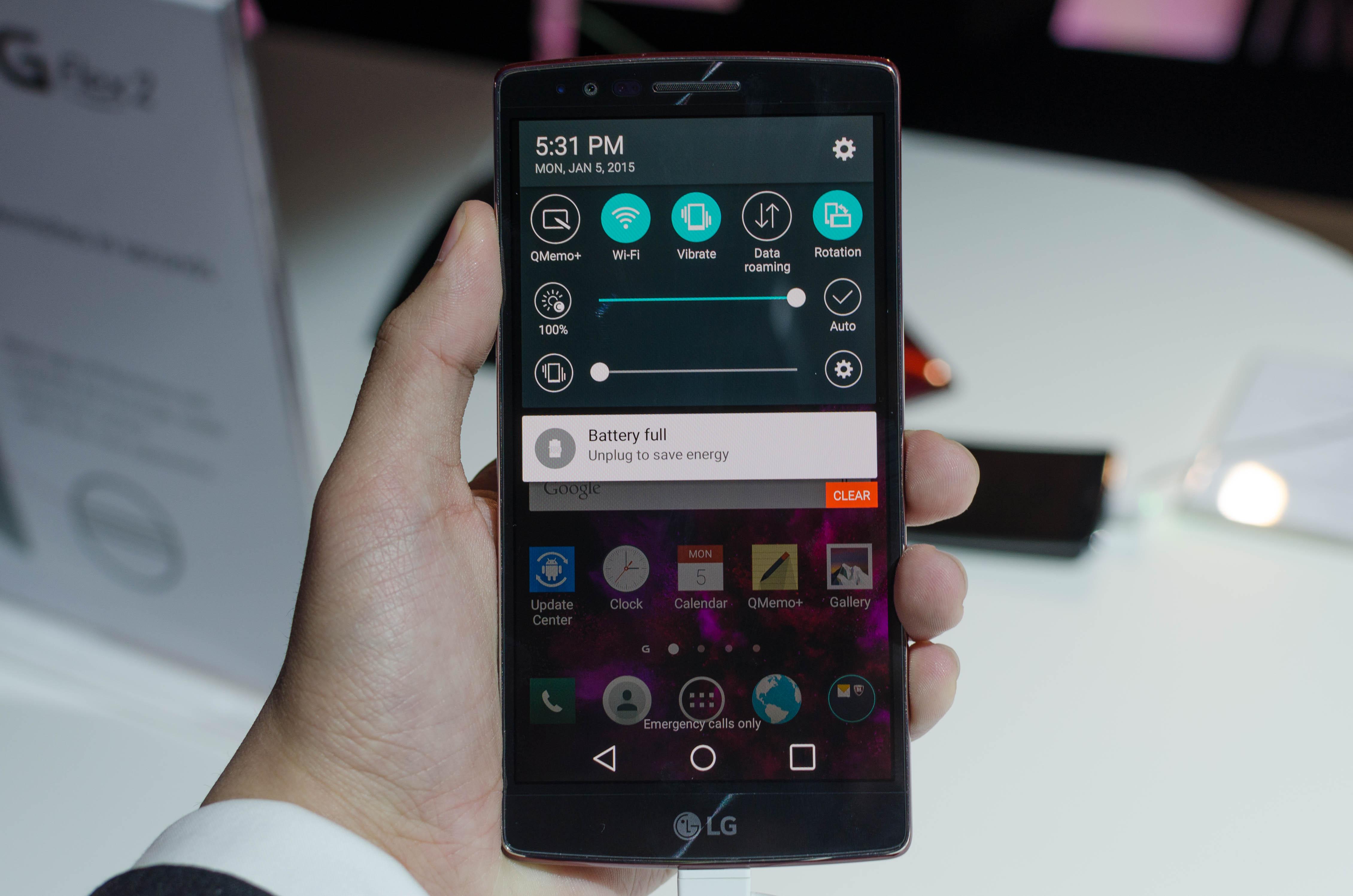 LG G Flex 2: Hands-on Impressions