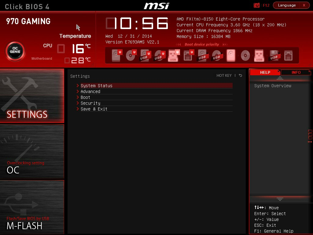 BIOS and Software - MSI 970 Gaming Motherboard Review