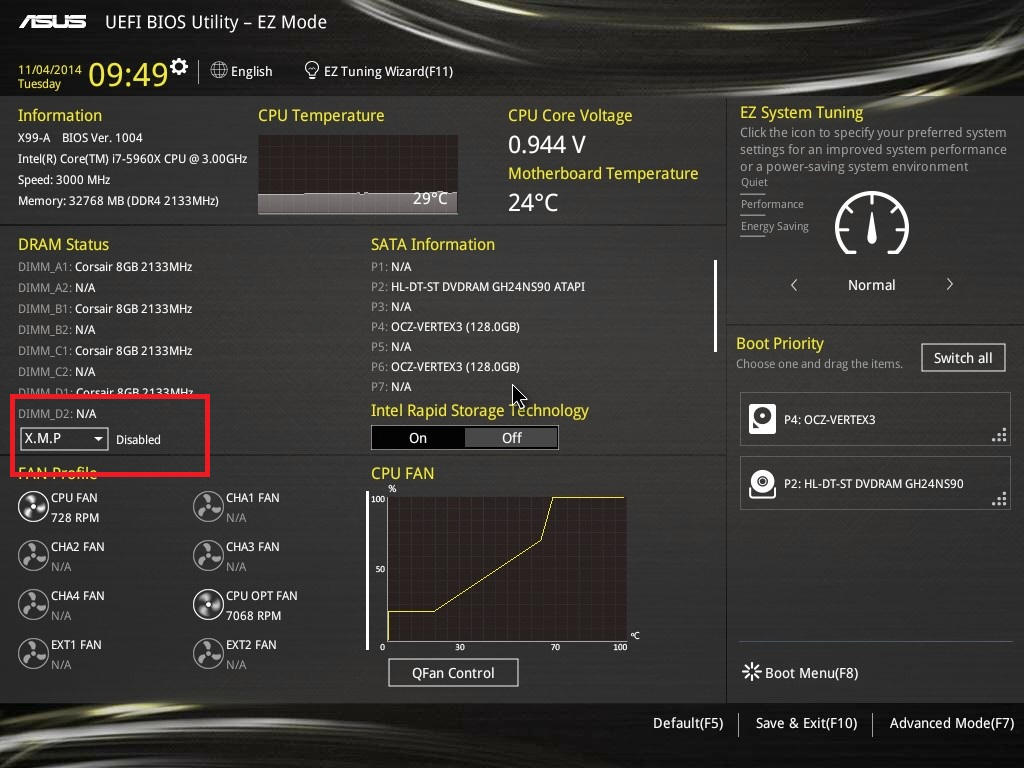 Enabling XMP - DDR4 Haswell-E Scaling Review: 2133 to 3200